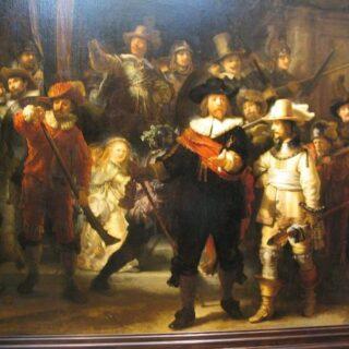 Rembrandt: Éjjeli őrjárat - múzum nyitás flashmobbal