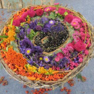 őszi dekorációk -színes csokor